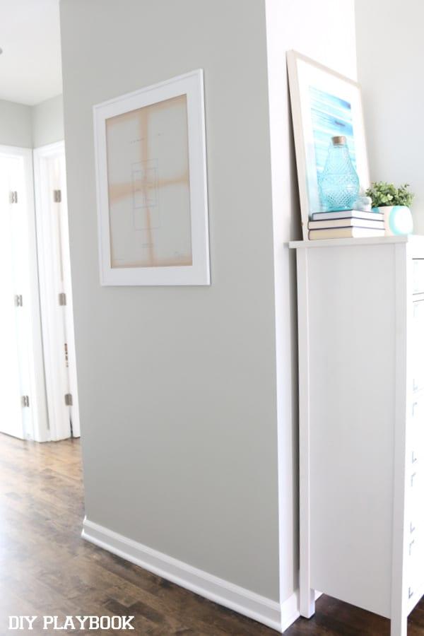 Hallway Art Augusta: Framed Home Blueprint Art | DIY Playbook