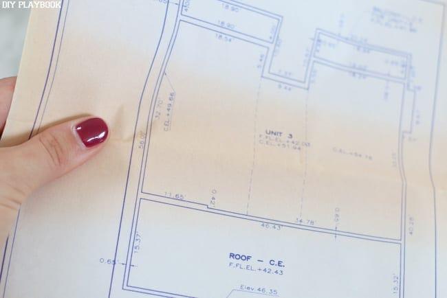 Holding Blueprints: Framed Home Blueprint Art | DIY Playbook