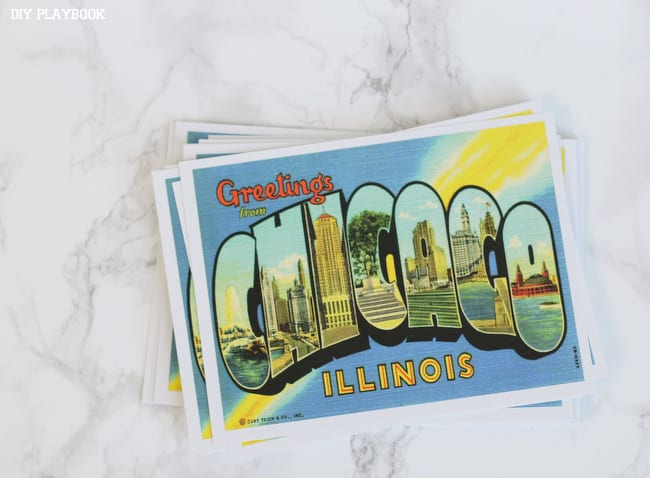 chicago postcard new home annoucnements