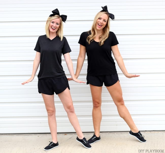Bridget and Casey's Emoji Halloween Costume