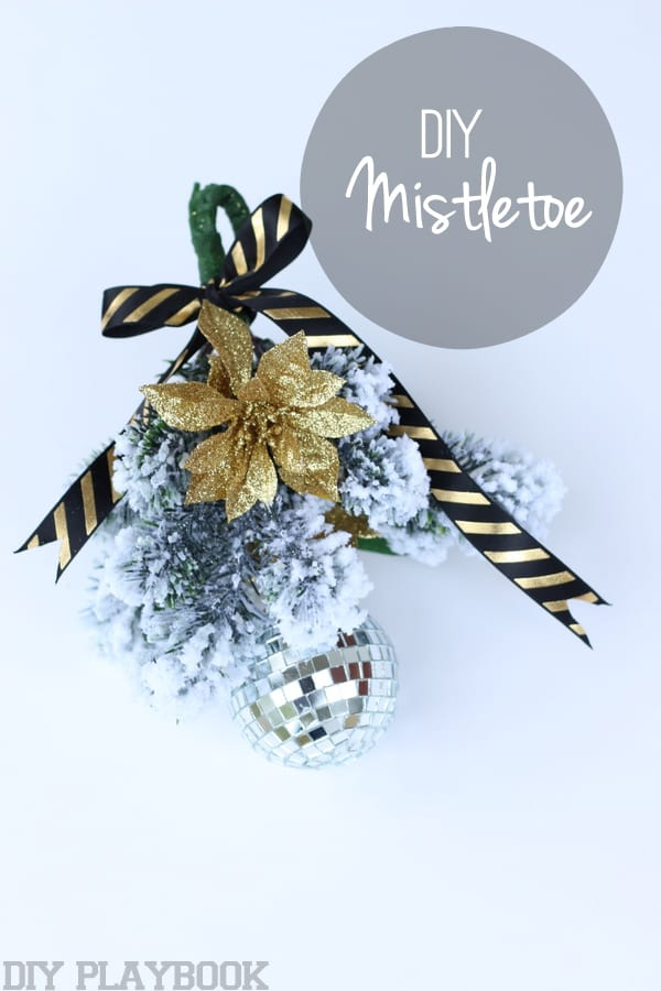 this DIY Christmas Mistletoe isn't the traditional idea of mistletoe
