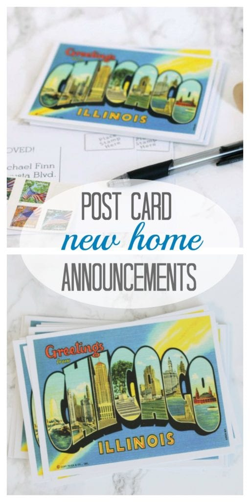 Use postcards for your new-home announcements! They're easy and fun!