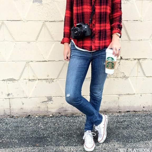 bridget camera coffee fall converse