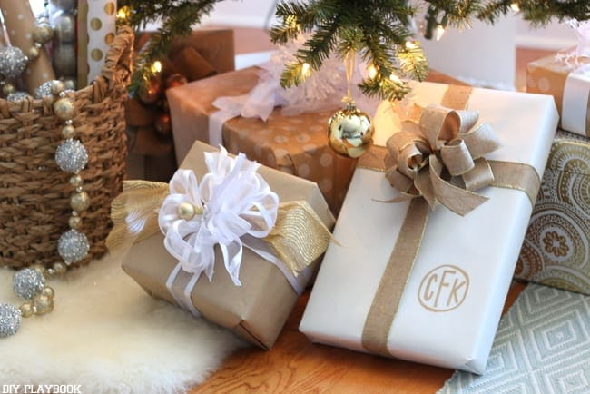 Wrapping paper is an easy way to up your Christmas decorating game. Make your wrapping paper match your tree!