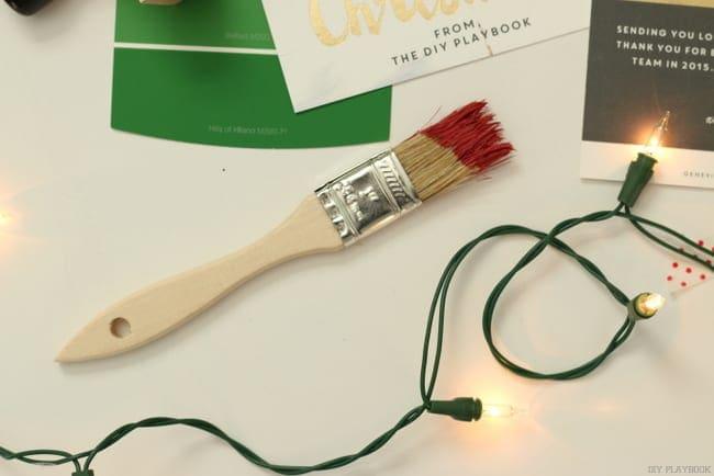 Christmas lights paint brush
