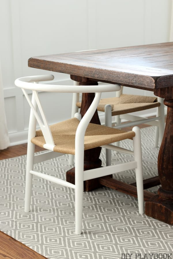 Great low-back dining room chairs.