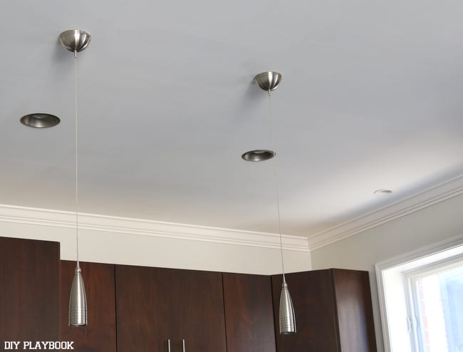 Kitchen pendants- before the update