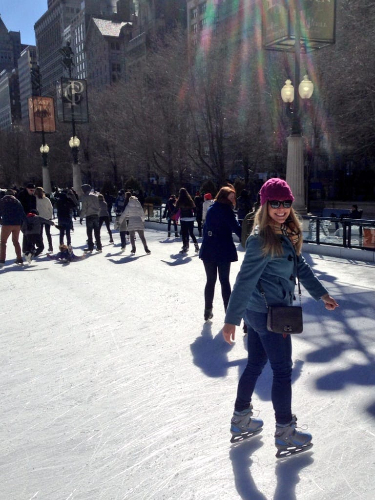 Ice skating in millenium park is a must-do in the winter.
