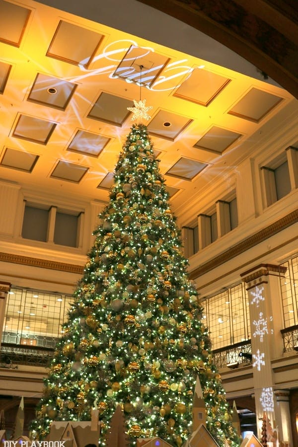 The Christmas tree in Macy's Walnut Room is a Chicago favorite.