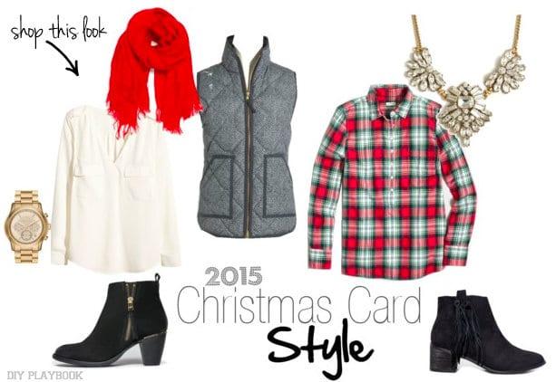 Christmas Card Photo Shop the look