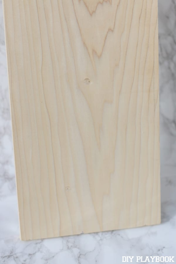 Start with a basic wood board