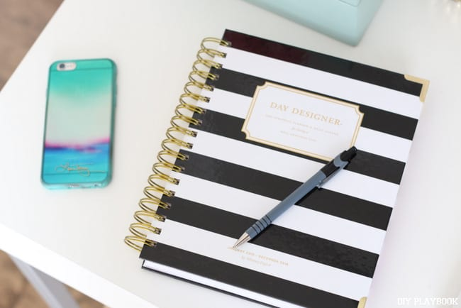 Find a cute notebook to use for home decor planning. This will make it more fun to create those shopping lists!