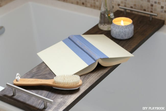 How to Make your own DIY Bathtub Tray | The DIY Playbook