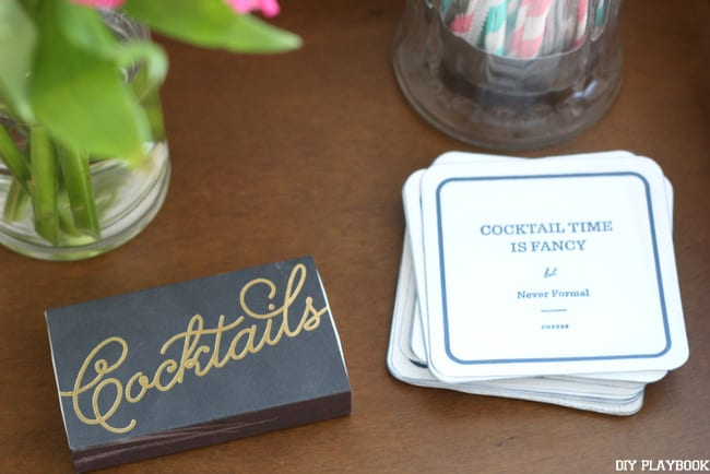 These cocktail coasters are fun and one of a kind.