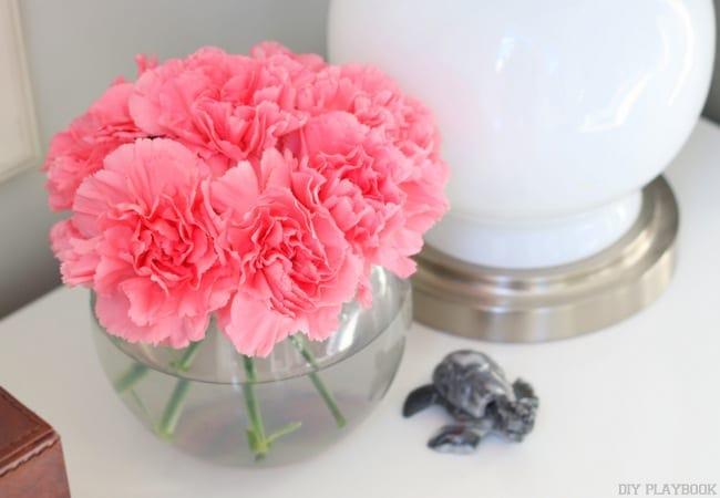 7-carnations-flower-bowl-tutorial-nightstand