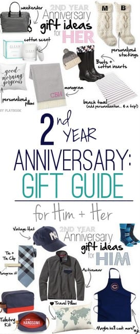 2nd Year Anniversary Gift Ideas For Him And Her Diy Playbook