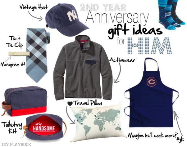 2nd Year Anniversary Gifts for Him