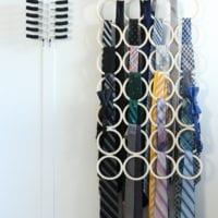 These organized ties are easy to find in the new hanger system.