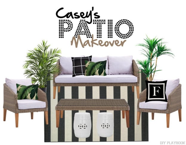 Casey's Palm Patio Makeover Wayfair