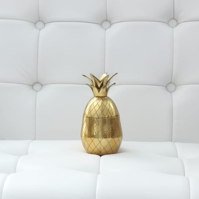 Nordstrom Home Decor: Gold Pineapple - doubles as a drinking glass! | DIY Playbook