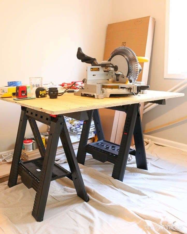 saw-horses-work-table