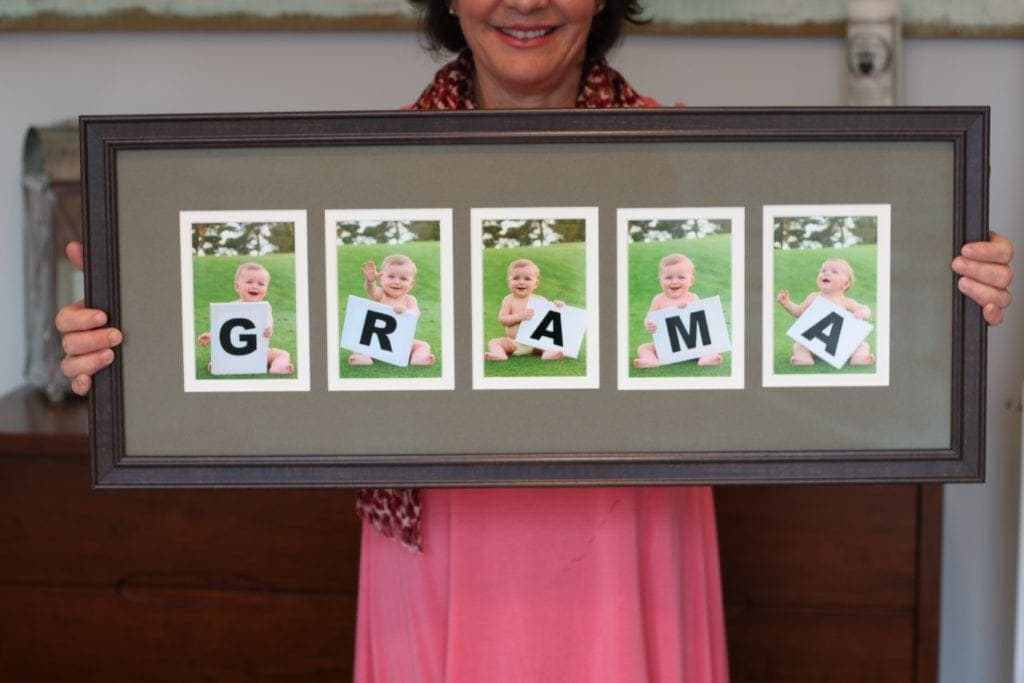 We love this personalized Mother's day gift idea for grandma.