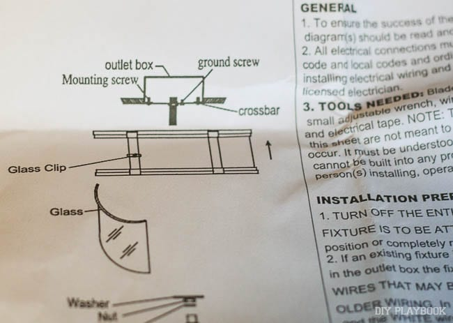 This is how to install a ceiling light.
