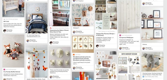 Starting a Pinterest board is one of the first 5 steps to plan a nursery.