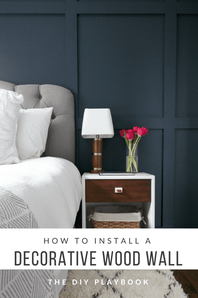 Jazz up your walls with a decorative wood wall treatment that you can DIY