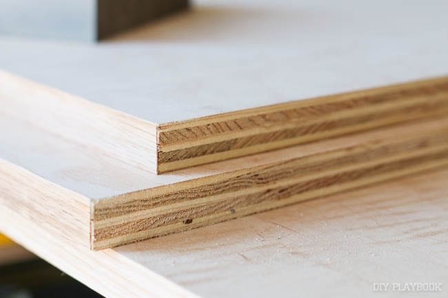 Rough edges on the plywood can be easily fixed