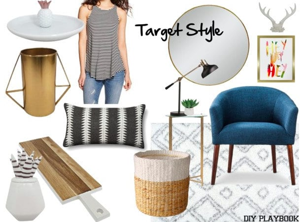 This style board showcases all the awesome stuff Target has to offer.