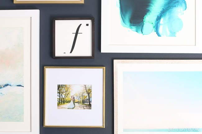 We love this art and these frames from Minted. The gallery wall looks amazing!