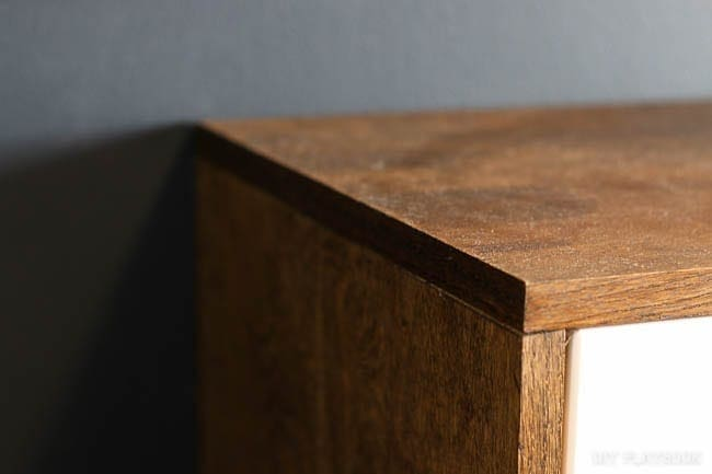 Detail photo of wood edging