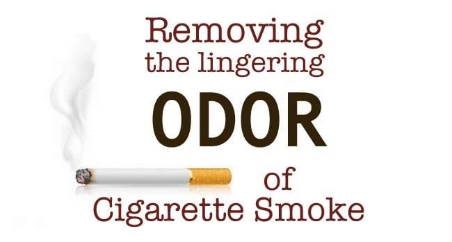 Here's how to remove cigarette odor.
