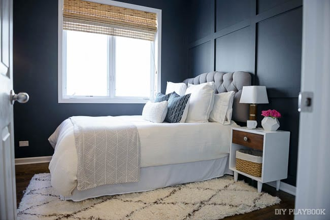 This guest bedroom is the perfect balance of comfy and chic.
