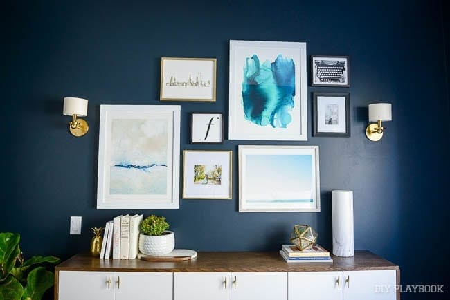 A gallery wall is a great way to add pops of detail to a room's decor.