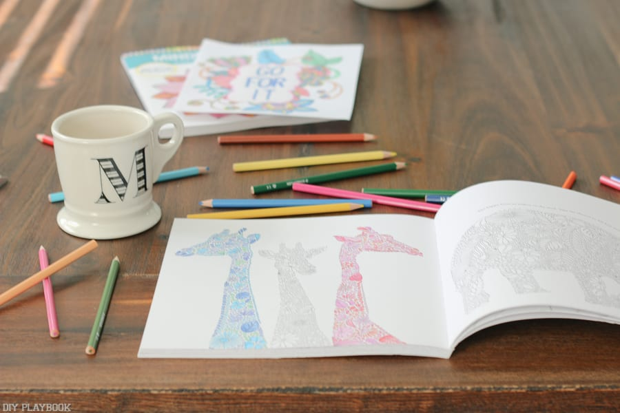 If you need to slow down and take a mini-break, coloring in adult coloring books is a great way to destress