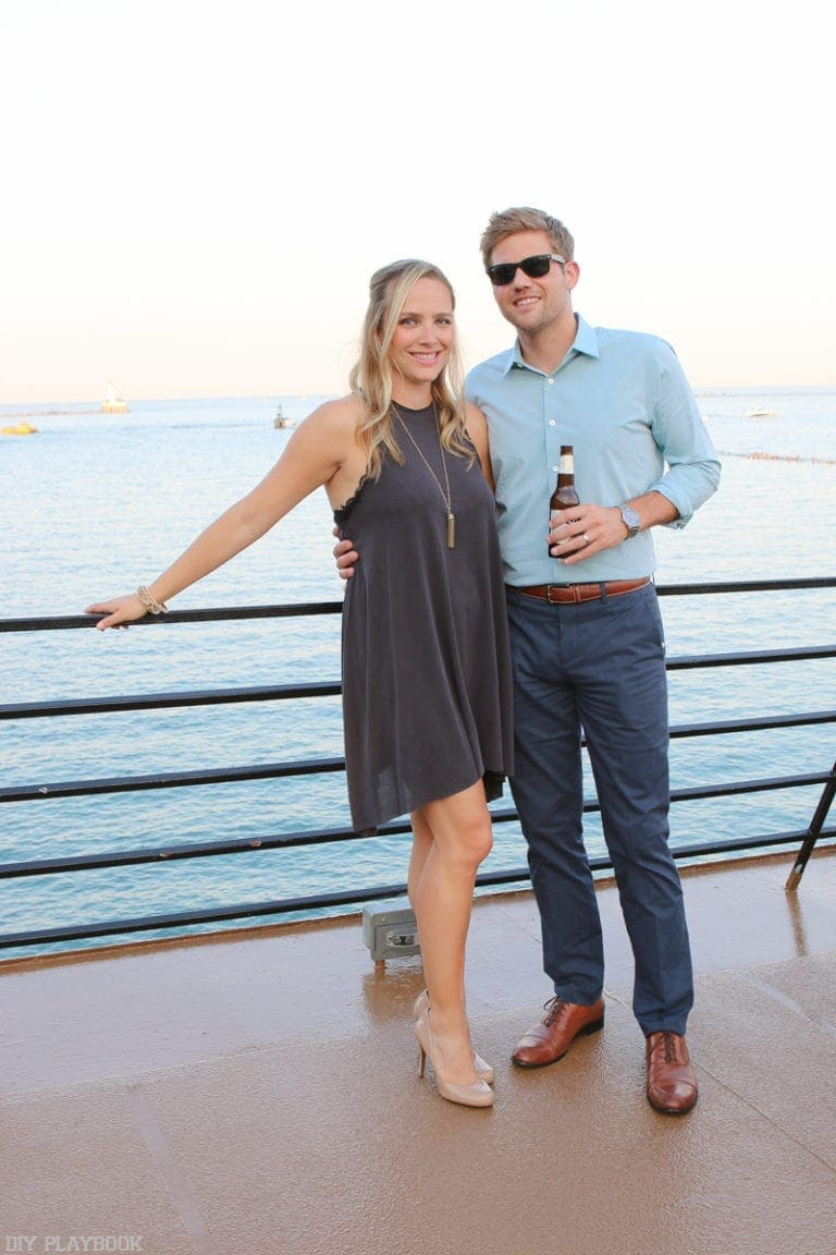 Casey and Finn at the pier in Chicago