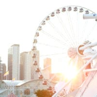 Chicago's Navy Pier at sunset