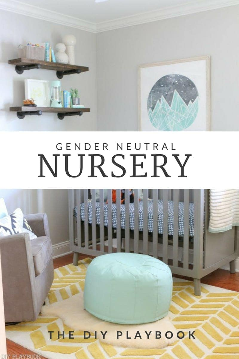 Gender Neutral Nursery Reveal Diy Playbook