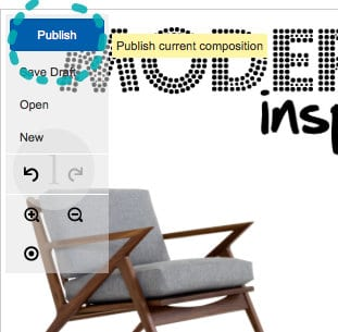 Publish your finished mood board and move on to the next project