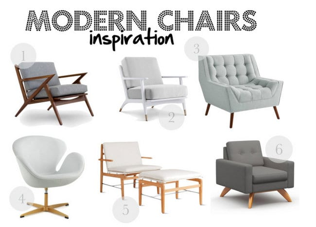 Modern chair inspiration mood board