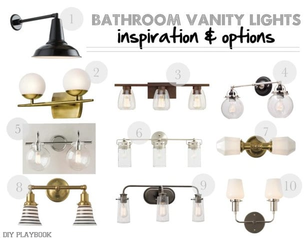 Inspiration Board: Bathroom Vanity Lighting Inspiration and Shiplap | DIY Playbook