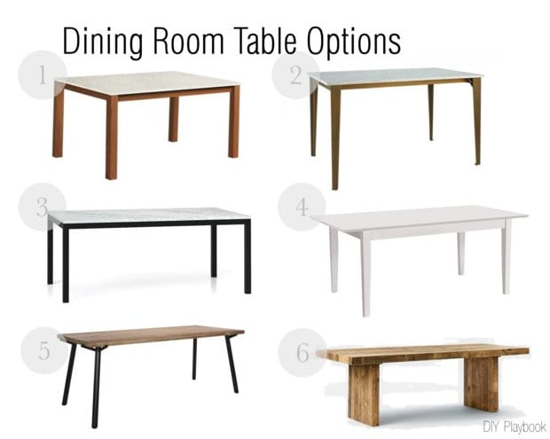 we finally narrowed down six options for our new dining room table