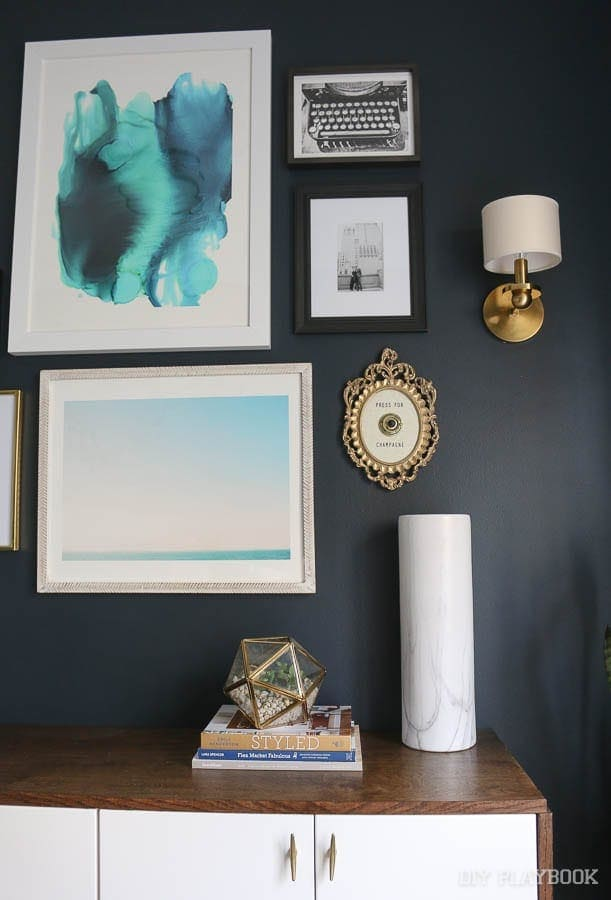 Gallery Wall: Champagne Themed Decor | DIY Playbook