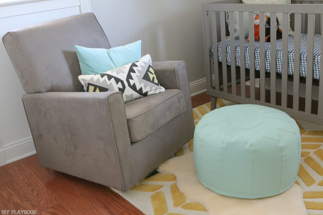 transitional seating: Gender Neutral Nursery Reveal | DIY Playbook
