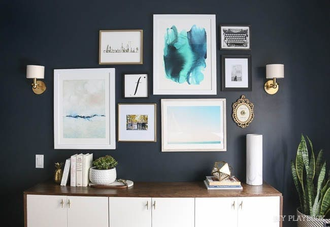 the master bedroom gallery wall
