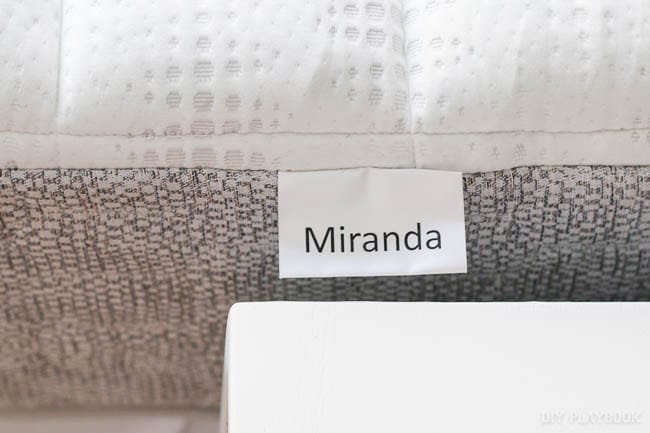 The gel foam Miranda mattress was the perfect fit