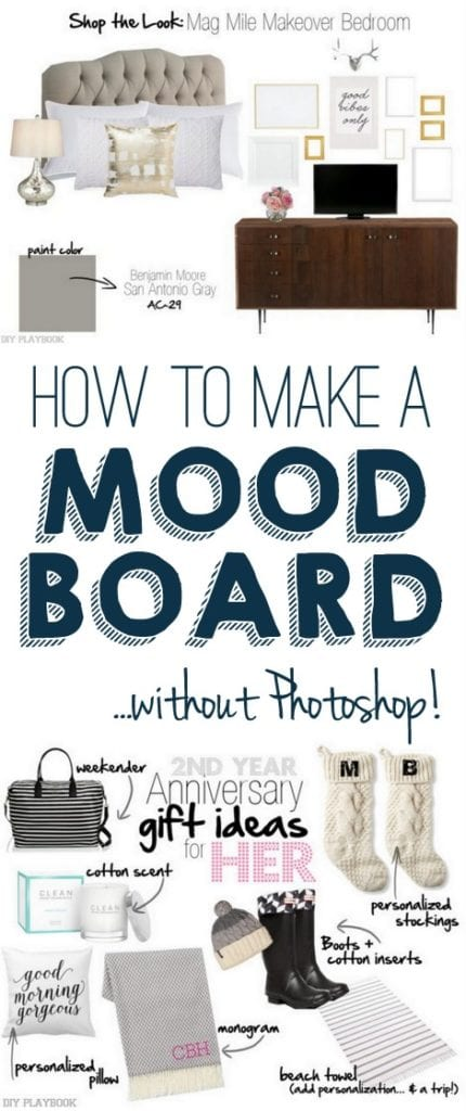 How to make a mood board- master bedroom