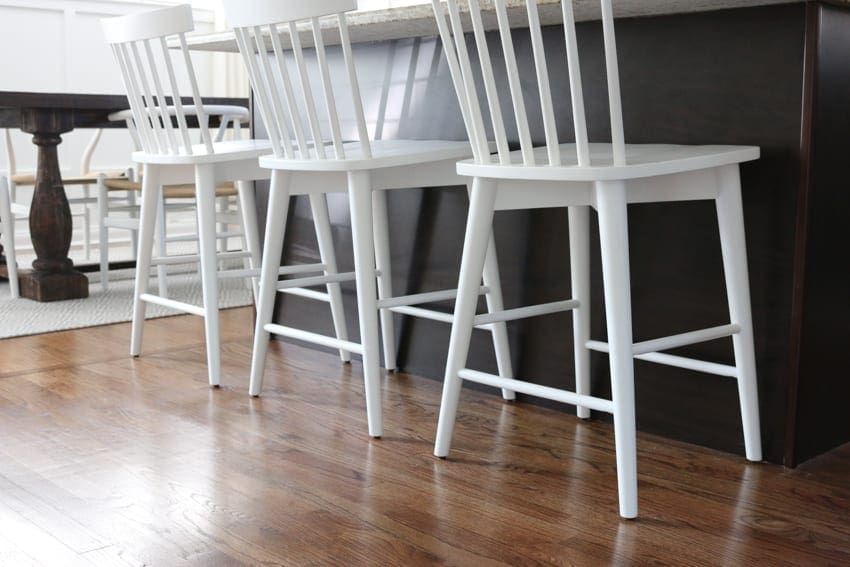 Bridget got these new kitchen counter stools on a budget and they replay are perfect for the space!
